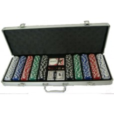500 Piece Dice Design Poker Chip Set