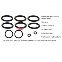AIR ARMS SERVICE KIT TO FIT CURRENT AIR ARMS T SLOT S200/ S400/ S410 / S510 Fill Valve Seal Kit