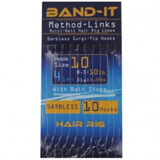 Band It Hair Rig Method Links Size 10 (BAN128)