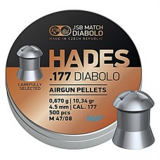 JSB Hades Pellets hollow point head .177 calibre 4.50mm 10.34 Grains tin of 500
