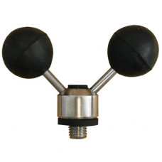 """STAINLESS STEEL BLACK ADJUSTABLE TWIN BALL ROD REST """"Mouse Ears"""" (5601)"""