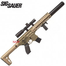 Sig Sauer MCX 30 Shot 88g CO2 Air Rifle FDE with Sig 1 4 x 24 Telescopic Sight .177 calibre Pellet