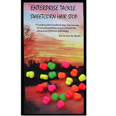 Enterprise Tackle ARTIFICIAL, IMITATION BAITS Sweetcorn Hair Stop FLURO MIXED COLOURS buoyant
