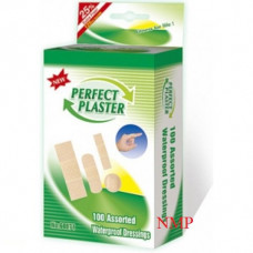 100 ASSORTED WATER PROOF DRESSINGS (PERFECT PLASTER)