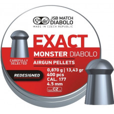 JSB Exact Monster Pellets 4.52mm .177 Calibre 13.43 grain Tin of 400
