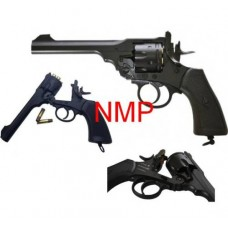 6mm AIRSOFT 12g co2 Air Pistol Webley MKVI Service Revolver Black 6mm BB .455